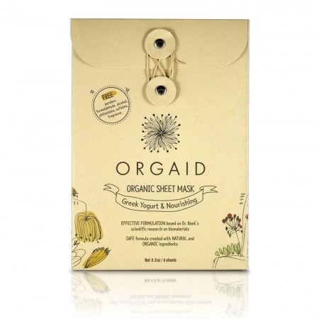 ORGAID - Greek Yogurt & Nourishing Organic Sheet Mask box (4 stk.)